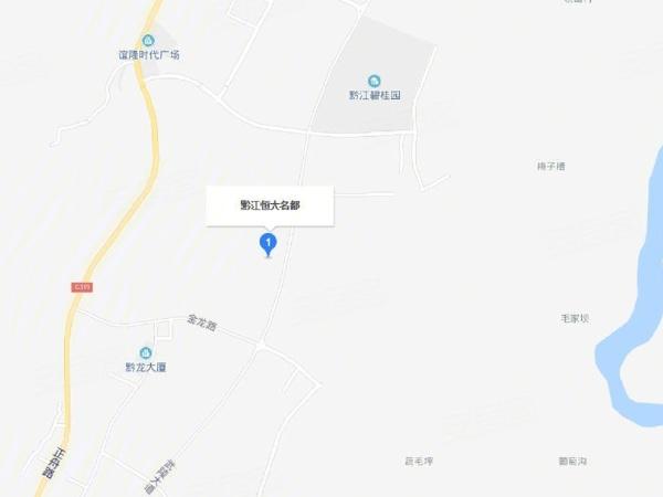 黔江地图城区详细地图