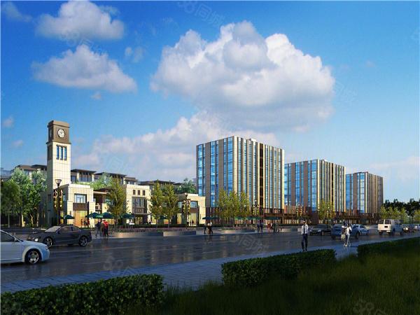 鲁商河畔商务中心楼盘建筑物外景