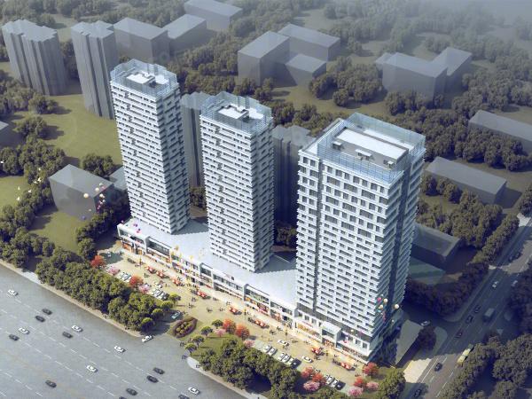 明湖未来公馆楼盘建筑物外景