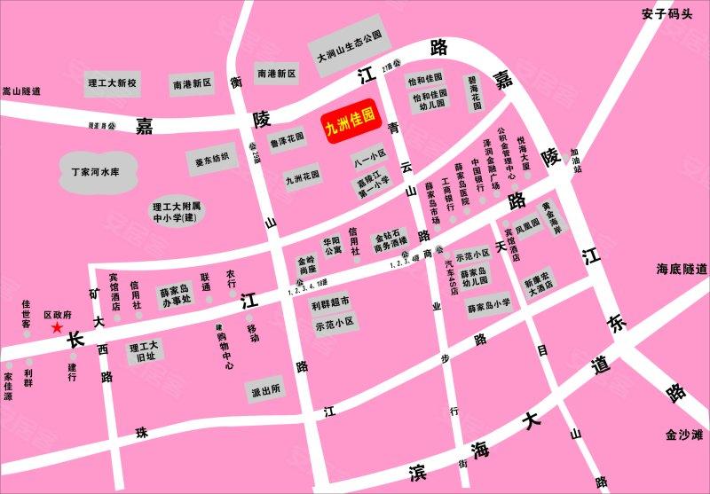 九洲佳园交通图