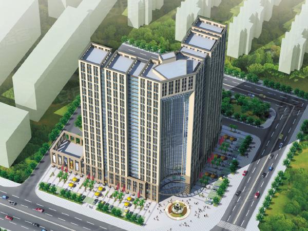 观园国际公寓楼盘建筑物外景