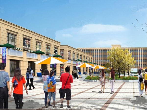 新港国际广场楼盘建筑物外景