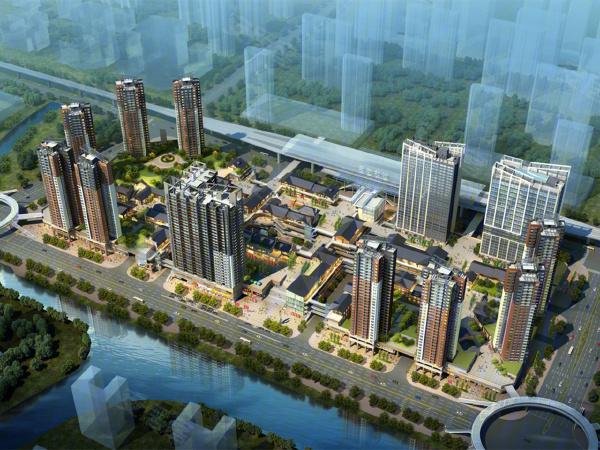 中国通号天聚广场楼盘建筑物外景