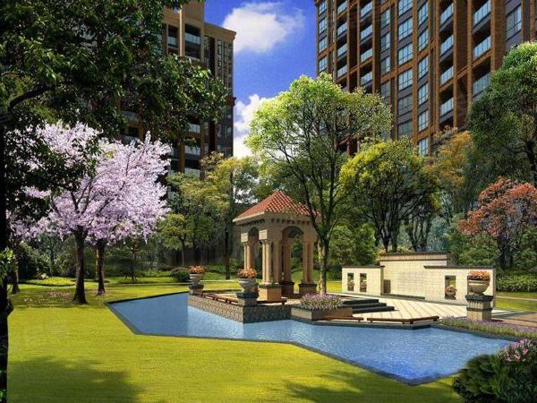和润国际小区内打造优美的中庭,提供舒适的居住环境。