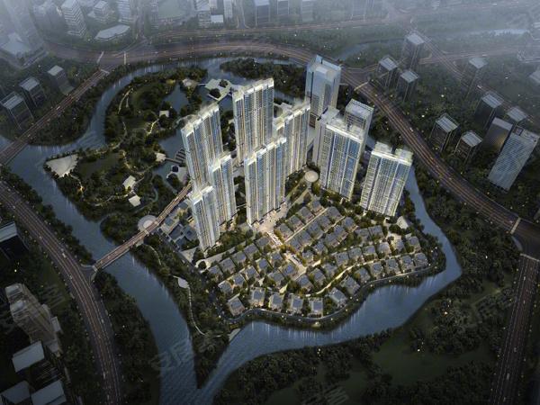 電建地產洺悅府環島匯樓盤建筑物外景