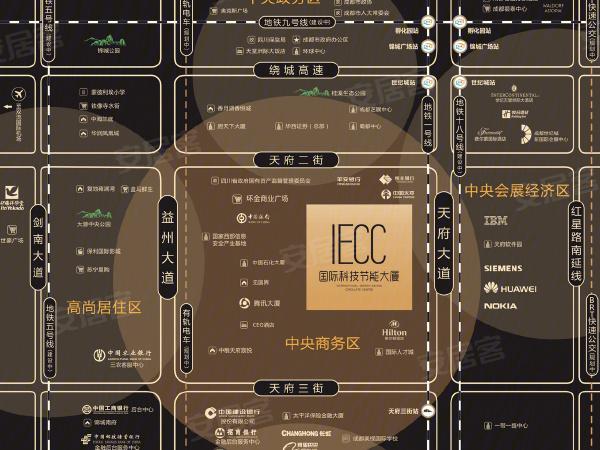 成都國際科技節能大廈區位圖