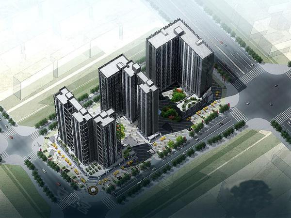 旗远锦樾楼盘建筑物外景