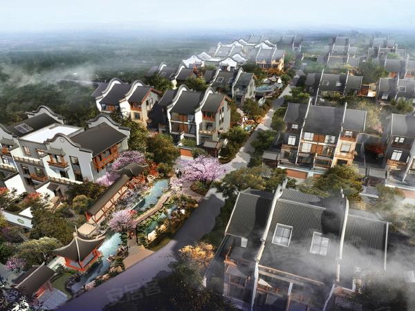 芙蓉古城•紫微园楼盘建筑物外景