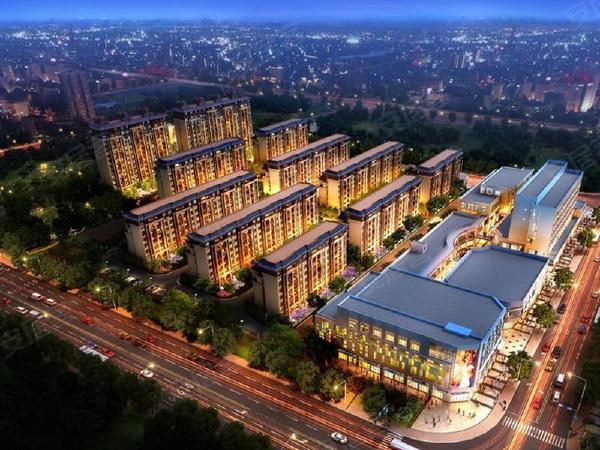 新城庭悦商业广场楼盘建筑物外景