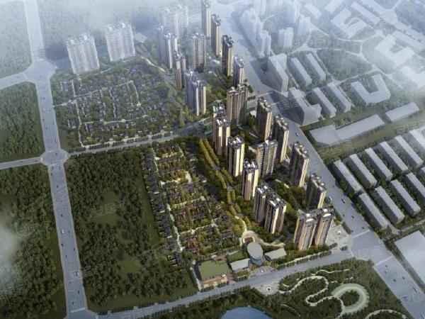 瀘州長島國際社區樓盤建筑物外景