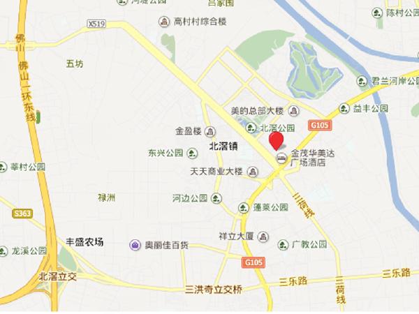 金茂华美达交通位置图