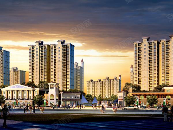 人生港湾南欧城商铺楼盘建筑物外景
