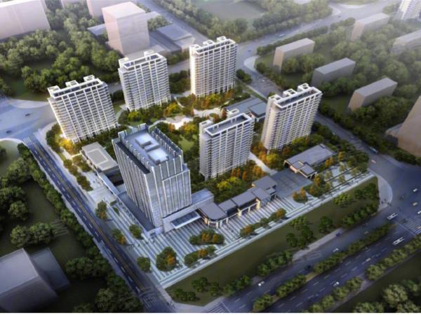 新空港孔雀城领航国际楼盘建筑物外景