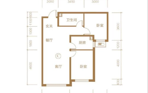 经典全南向两室,无浪费空间。