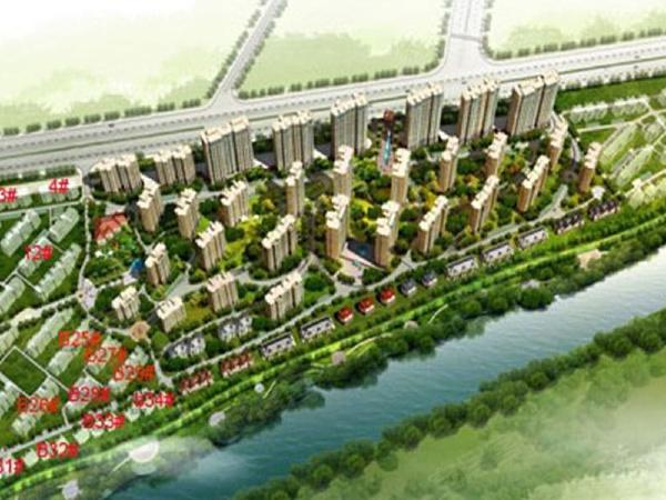 河畔花城楼盘建筑物外景
