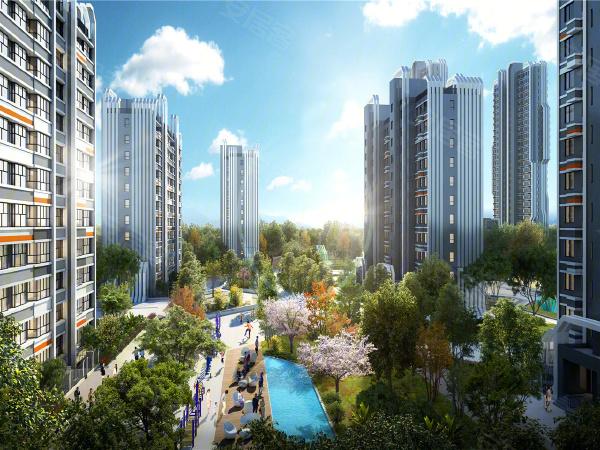 中新健康城·中新悦朗楼盘建筑物外景