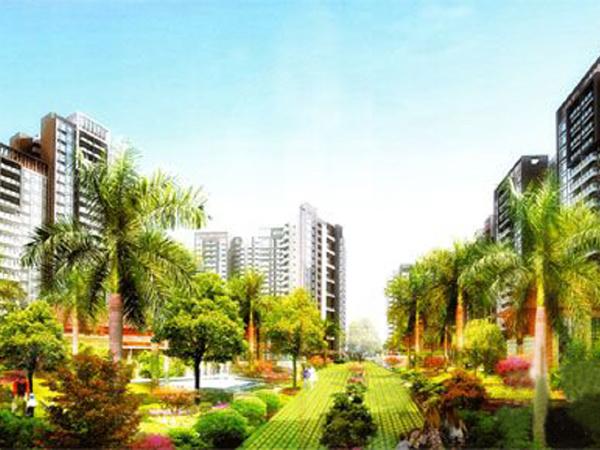 嘉信城市花园楼盘建筑物外景