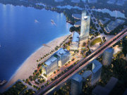 杭州钱塘金沙湖万晶湖畔中心楼盘新房真实图片