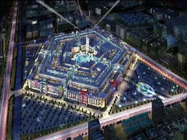 上海进口商品展示贸易中心楼盘建筑物外景