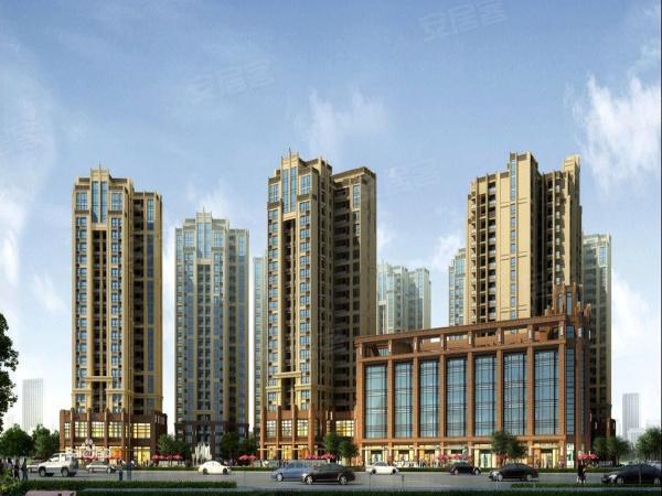 项目售楼部和楼栋的效果图
