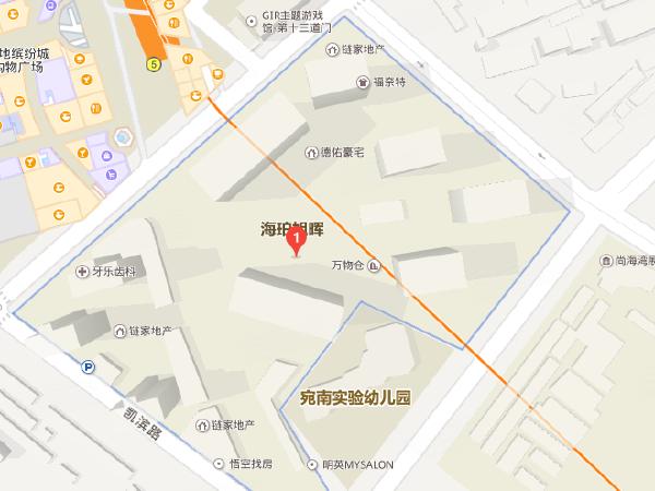 海珀旭晖商铺地理位置示意图