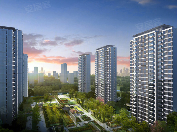 新浦西孔雀城云樾东方楼盘建筑物外景