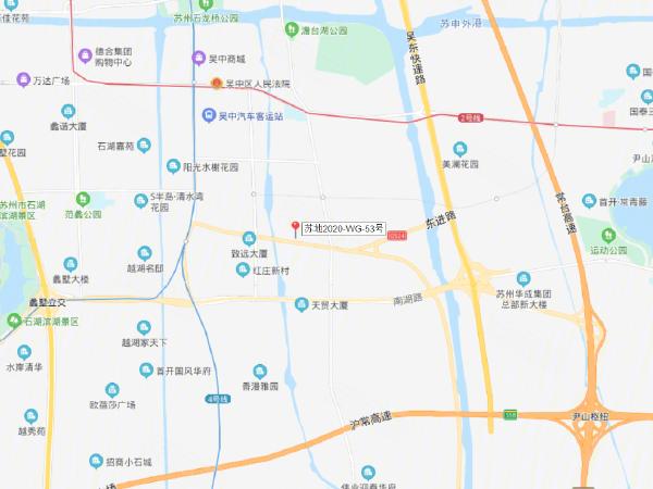 苏地2020-WG-53号楼盘区位规划