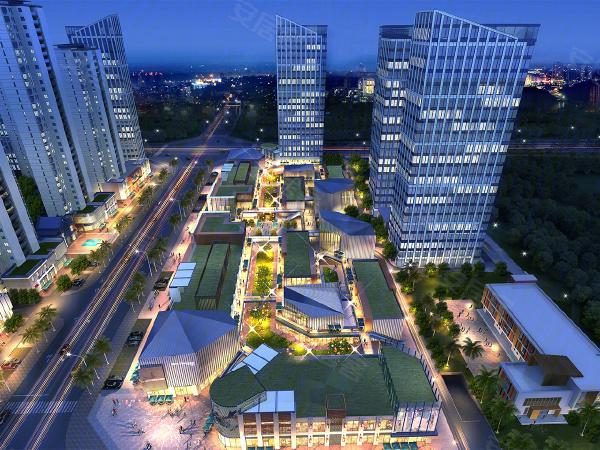 鸿海·高新中心楼盘建筑物外景