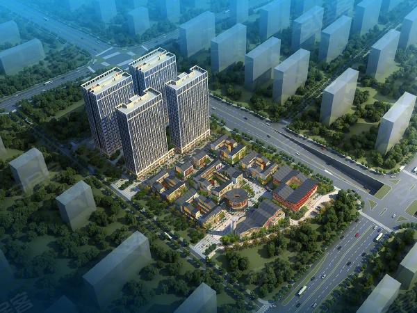 紫光浦上商业小镇楼盘建筑物外景