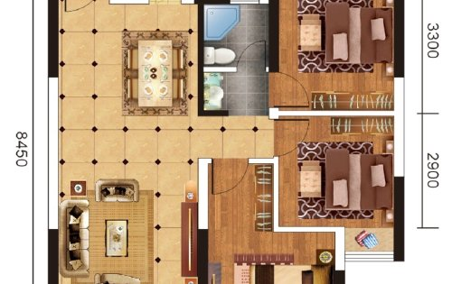 5号楼王,101平小3室,116平舒适3室