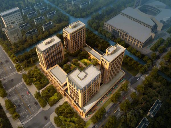 义蓬购物中心商铺楼盘建筑物外景