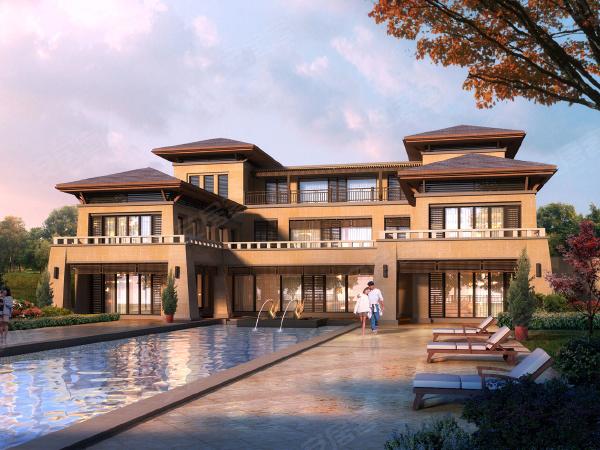 千岛湖桃花园项目由11幢珍稀汉唐风格独栋别墅构成